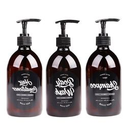 Scandinavian Bath Shampoo Bottle 500ml Brown <font><b>Body</