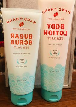 Hand In Hand Sea Salt Body Lotion And Sugar Scrub Set Brand