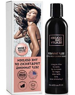 Self Tanner - Sunless Tanning Lotion w/Hyaluronic Acid & Org