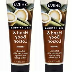 Shikai All Natural Hand And Body Lotion Coconut 8 fl oz 2 Pa