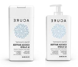 Acure Simply Unscented Body Lotion + Body Wash SET, 12 OZ. E