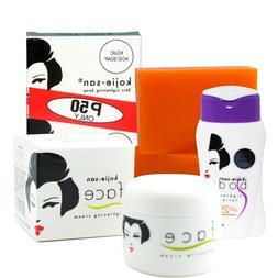 Kojie San Skin Lightening Mini-Set w/ Kojic Acid Soap, SPF L