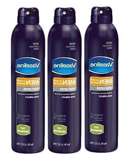 Set of 3 Vaseline Men Skin Moisturizer Non-Greasy Spray Loti