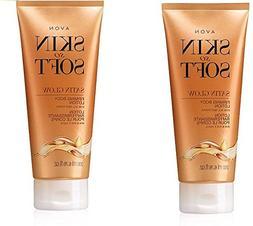 Avon Skin So Soft Satin Glow Firming Body Lotion lot of 2