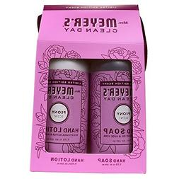 Mrs. Meyer's Clean Day Hand Gift Set, Peony: Hand Soap  + Ha