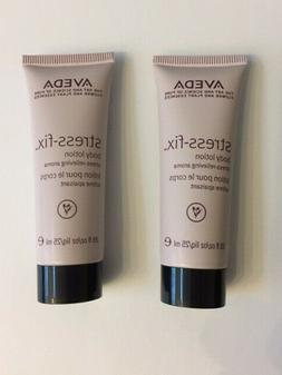 AVEDA Stress-Fix  Body Lotion - NEW - Purse size 2-pack