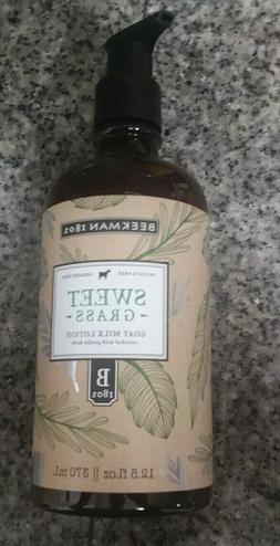 Beekman 1802 Sweet Grass Goat Milk Hand & Body Lotion 12.5 o