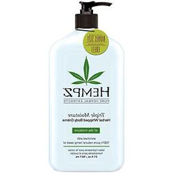 Hempz Triple Moisture Herbal Whipped Body Creme 21 oz