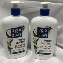 Kiss My Face Tropical Coconut Body Lotion Lot Of 2 16-Ounce