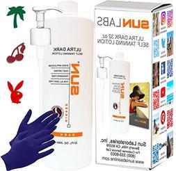 Sun Laboratories 32oz Ultra Dark  Self Tanning Lotion + Glov