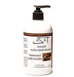 Premium Taza Natural Unscented African Shea Hand & Body Loti