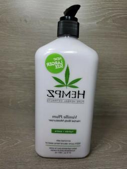 Hempz Vanilla Plum Herbal Body Moisturizer 21oz ~ Discontinu